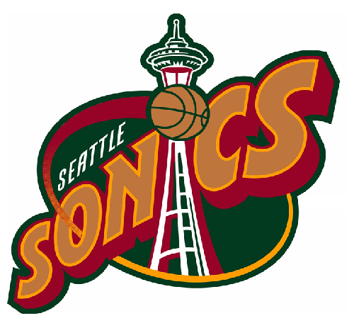 logo seattle supersonics 90