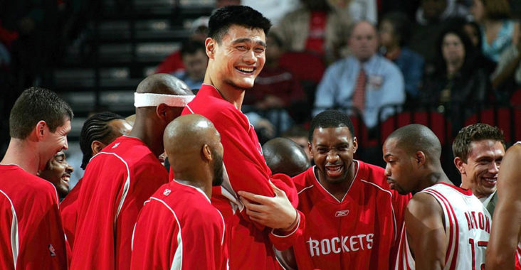 giocatori nba più alti yao ming houston rockets