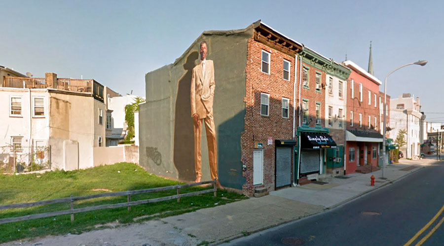 julius erving philadelphia murale