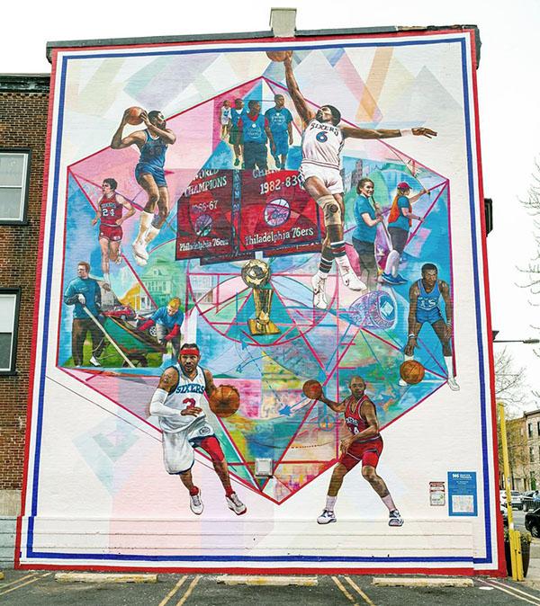 philadelphia 76ers sixers murale