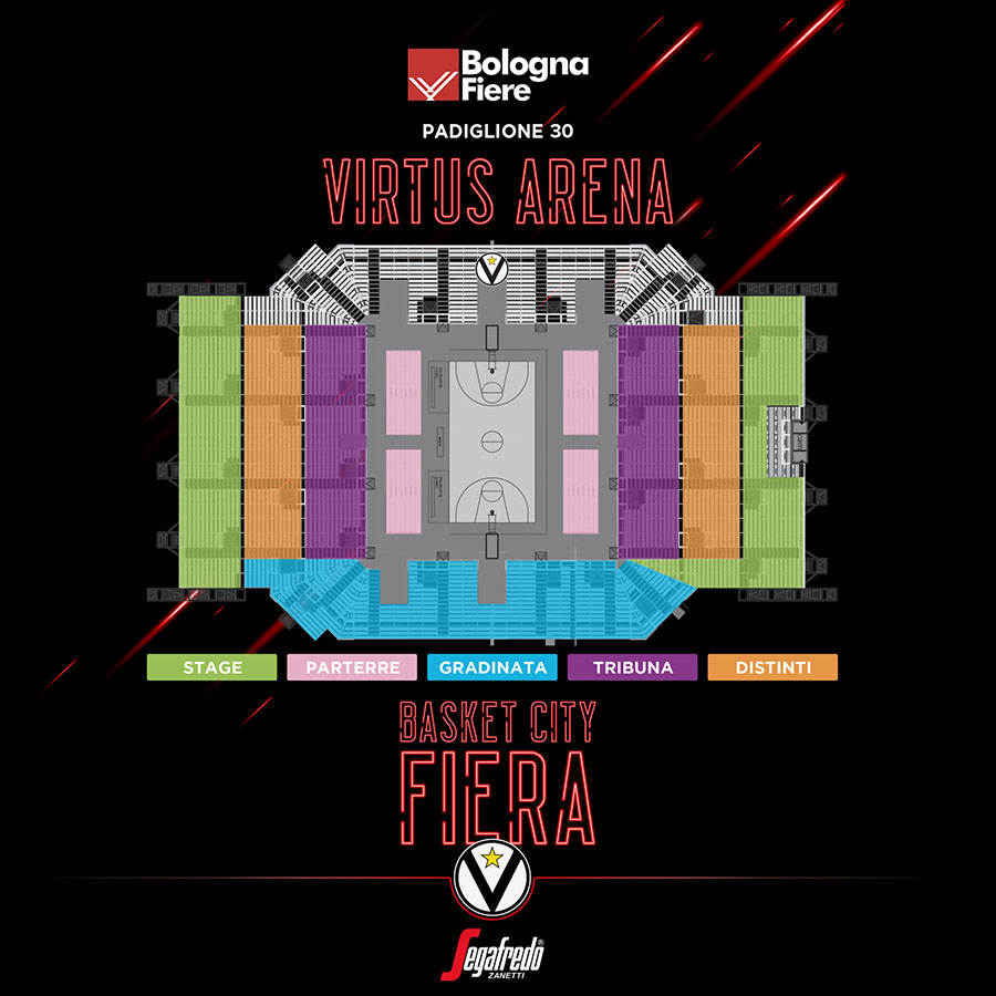 virtus segafredo arena basket city fiera