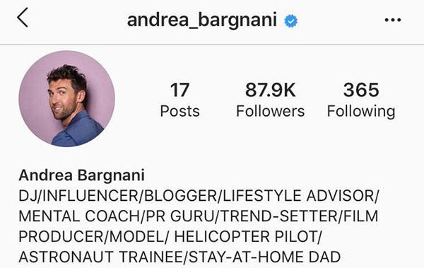 andrea bargnani instagram bio
