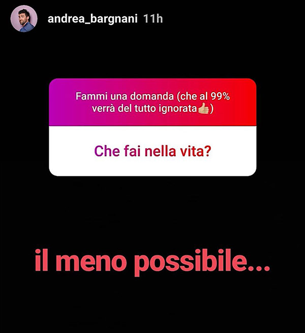 andrea bargnani instagram stories