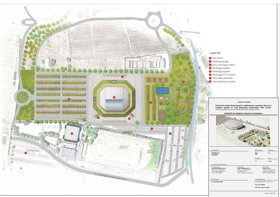 brindisi new arena progetto