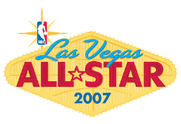 nba all-star game 2007 las vegas logo