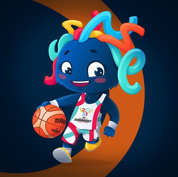 europei femminili basket 2021 mascotte