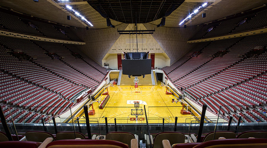 arene della march madnes 2021 assembly hall indiana