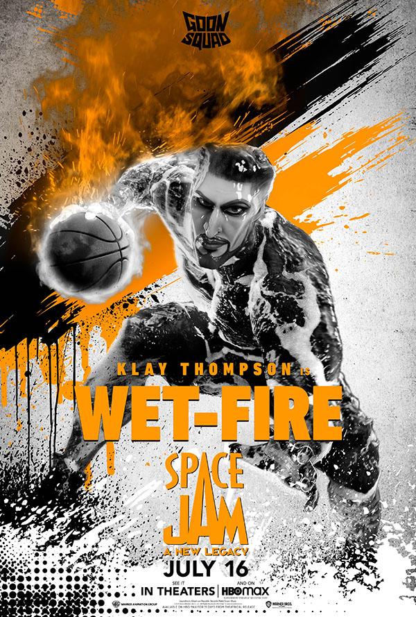 wet-fire klay thompson space jam new legends